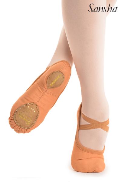 Sansha soft shoes leather sole CAMBRE 41C