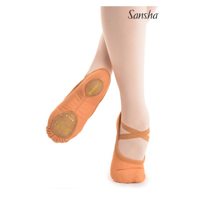 Sansha soft shoes leather sole CAMBRE 41C