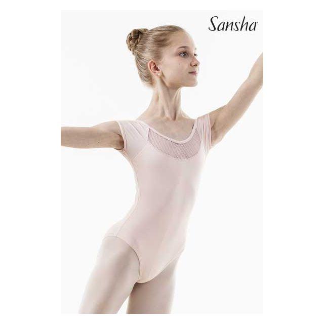 Sansha short-sleeved leotard LIZIANE 51AE0004MN