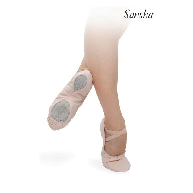Sansha Ballet slipper in canvas ENTRECHAT 8C