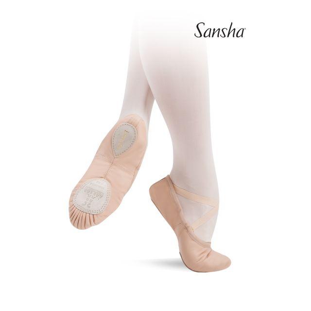Sansha ballet slipper split sole ENTRECHAT 8Lco