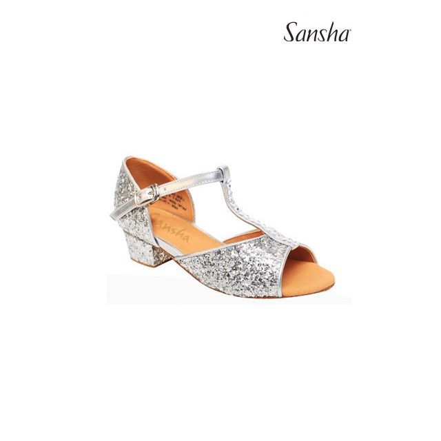 Sansha Glittery latin suede sole ALEXA BR13046GL