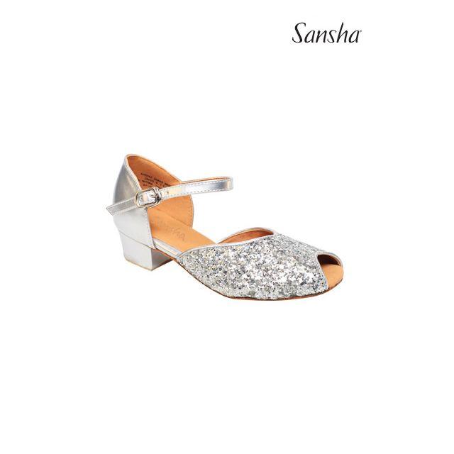 Sansha Glittery latin suede sole MEGAN BR13057GL