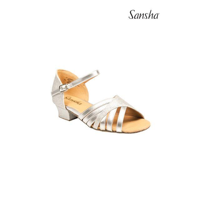 Sansha latin bow suede sole ESTELA BR13060PU