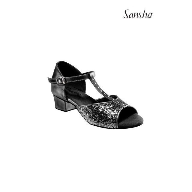 Sansha Glittery latin suede sole ANA BR13048GL