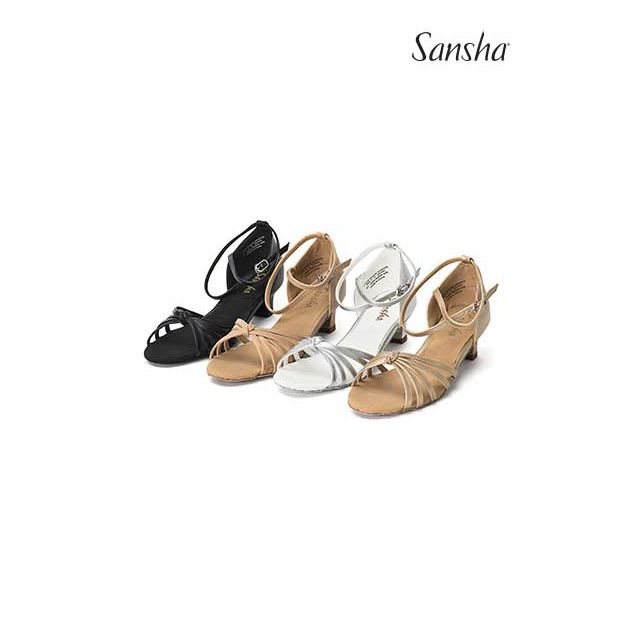 Sansha latin bow suede sole ISABEL BR15027PU