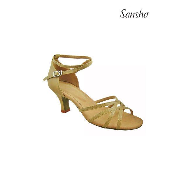 Sansha latin ballroom suede sole BONITA BR23020PU