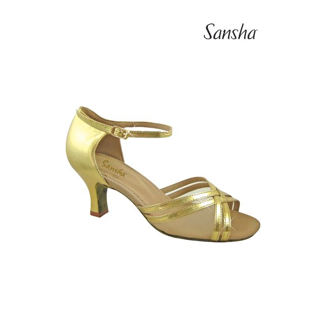 Sansha latin ballroom suede sole DELORA BR23022PU