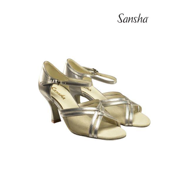 Sansha latin ballroom suede sole DINA BR31023PU
