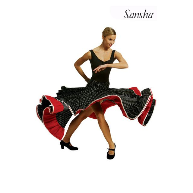 Sansha Polka flamenco skirt CATALINA D0914P