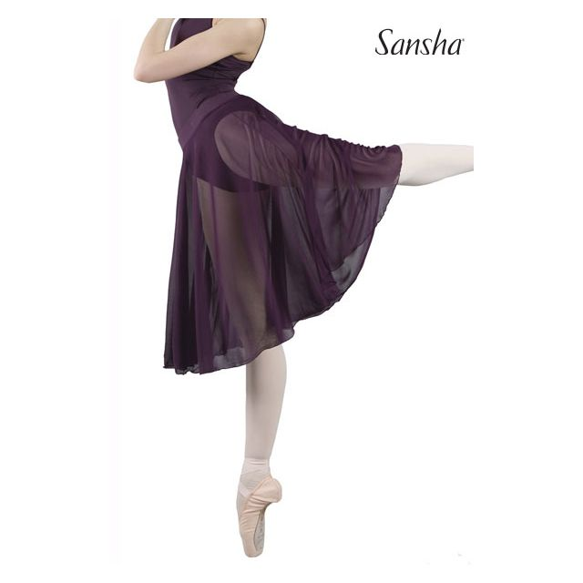 Sansha Medium pull-on mesh skirt MISTI 1 D0817M