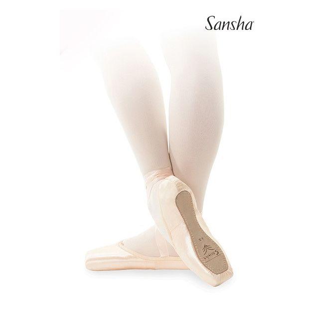Sansha pointe shoes leather sole DEBUTANTE D101SL