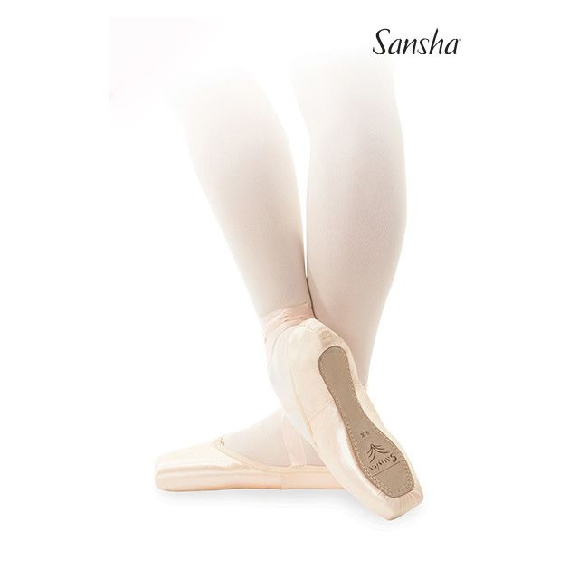 Sansha pointe shoes leather sole PAOLA D108SL