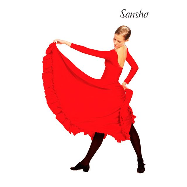 Sansha sleeveless flamenco dress MURCIA D4910N