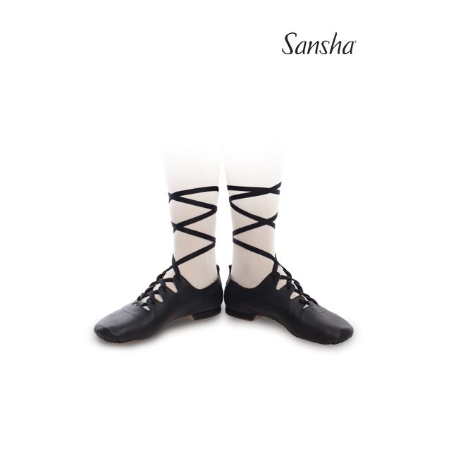 Sansha low heel character shoes GHILLIES 1 GH1Lpi