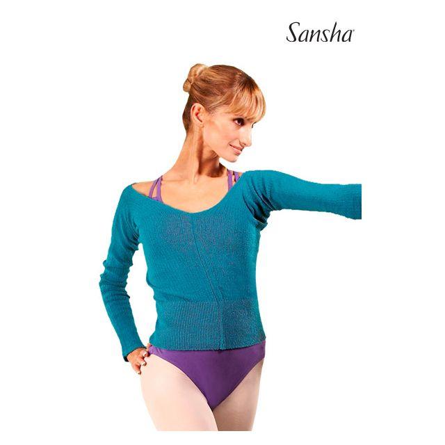 Sansha Long sleeve ribbed sweater GARDENIA KS400