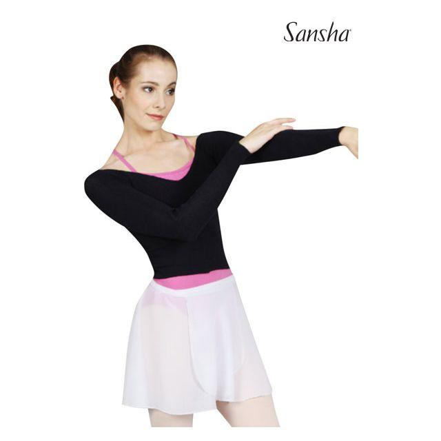 Sansha Long sleeve crop sweater AMARANTH KS406