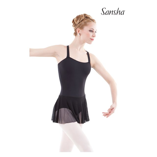 Sansha leotard attached skirt ENIGME LE1716M