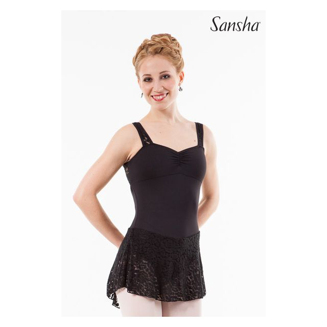 Sansha leotard attached skirt AUSTINE L2550M