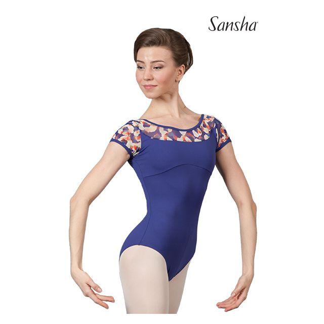 Sansha cap sleeve leotard ANDREA L2564M