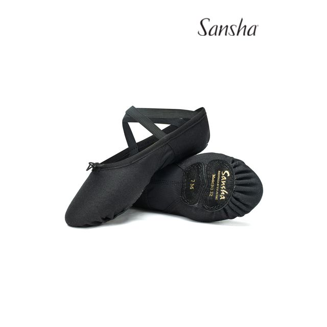 Sansha stretch-canvas ballet slipper PRO MESH 32C