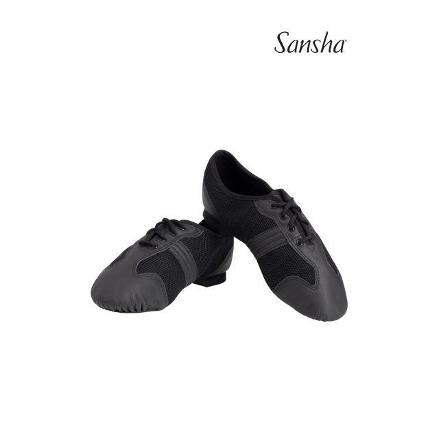 Sansha Mesh upper leather details SAN MARCO V37M