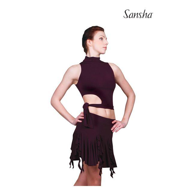Sansha ballroom sleeveless top TECLA W5001P