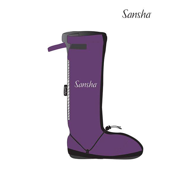 Sansha booties rubber sole LOGO ALASKA WOOM-4