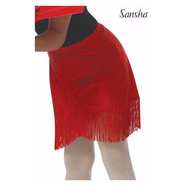 Sansha girls pull-on skirt fringes NINA Y0716P