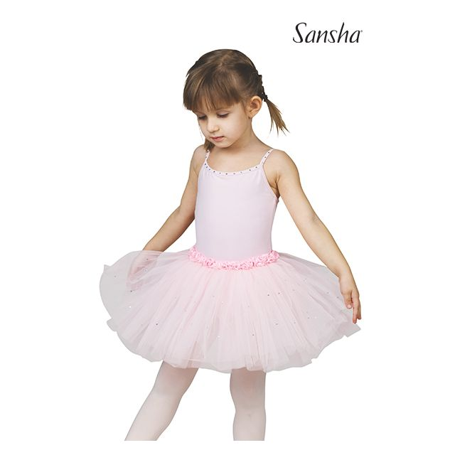Sansha girls camisole tutu dress FAWN Y1705C