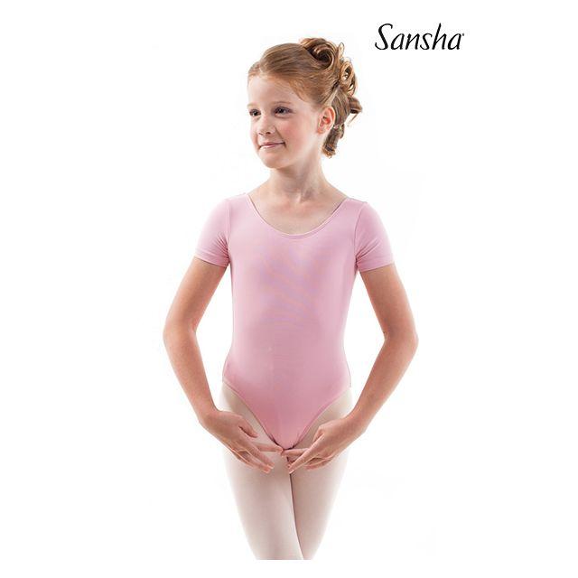 Sansha girls short sleeve leotard FLOTTA Y3518M