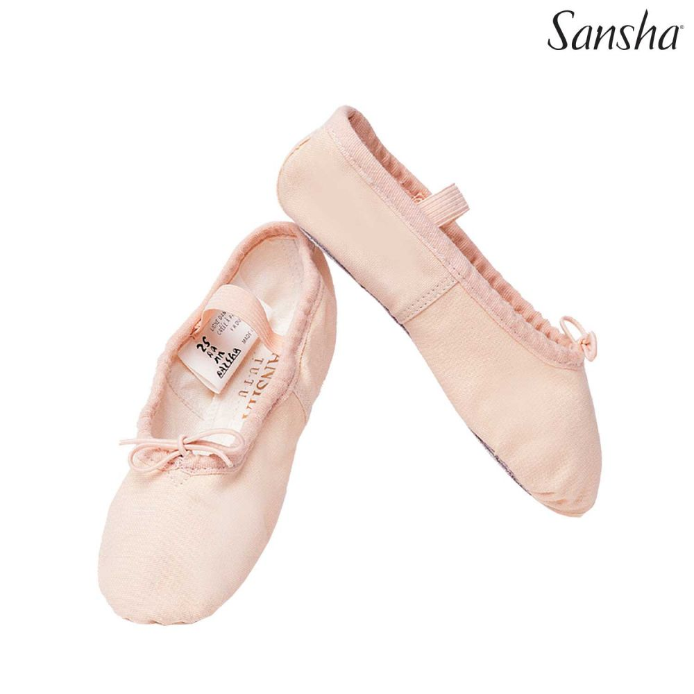 Ballet Shoes Leather Ballet Flats Full Sole Dance Slippers for Girls Toddlers Women Pink 5 UK=38