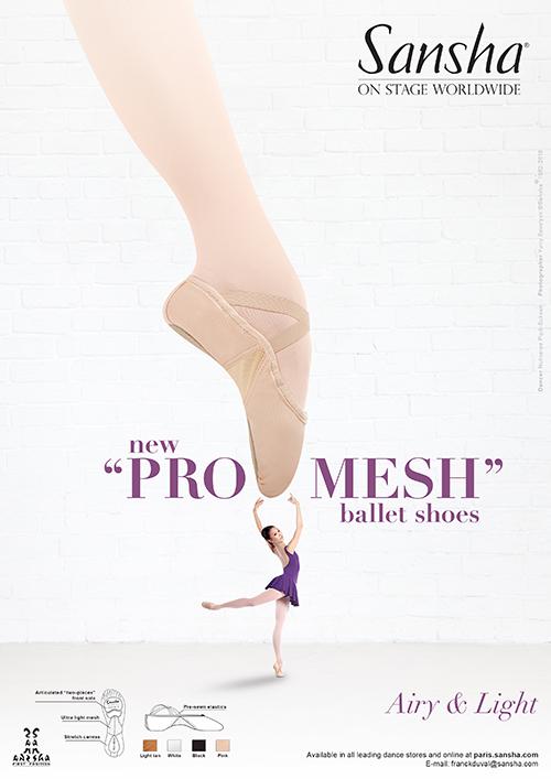 "Sansha NEW ""PRO-MESH"" ballet shoes"